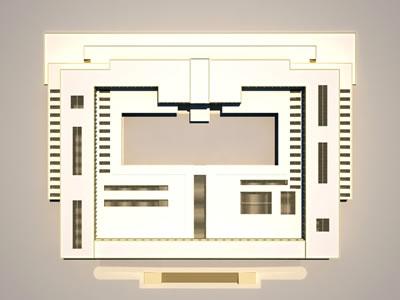 <p><strong>6.</strong> Milli Kütüphane,  Akademi, Müze Projesine ait Üst Görünüş. (Yazar tarafından yapılan üç boyutlu  modelleme ve kat planları, Edhem Eldem arşivinden alınan özgün çizimlere sadık  kalınarak yapılmıştır.)</p>
