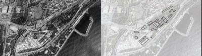 <p><strong>6. </strong>Yedikule Gazhane Kompleksini  gösteren hava fotoğrafı ve alanda koruma altında bulunan yapılar, 2015</p>