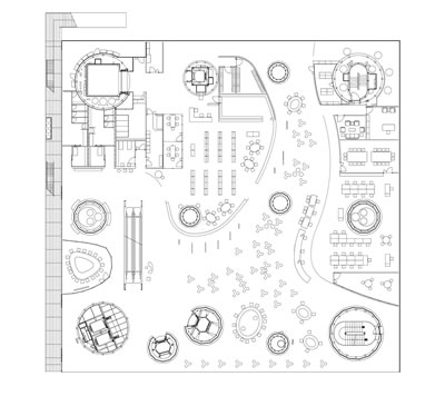 <p><strong>6.</strong> Sendai Mediatheque 2. Kat Planı<br />Kaynak: Toyo Ito & Associates, Architects