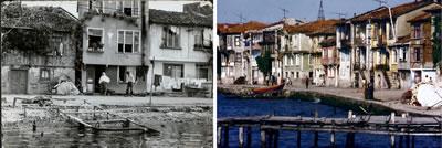 <p><strong>6.</strong>Ereğlinin günümüzde  mevcut olmayan özgün kıyı ilişkisi. <br />  Kaynak:  Ahmet Akgüner arşivi, KOÜ BAP, 2015 proje arşivi</p>