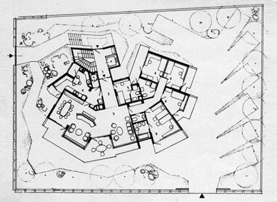 <p><strong>6. </strong>Kaplancalı  Apartmanı, tefrişli normal kat planı, 1974.<br />  Kaynak:  Önal, Maruf, 1991, Maruf Önal ve Tasarımları, <strong>Tasarım Dergisi</strong>, İstanbul: Tasarım Yayın Grubu, no: 14, 104-120.</p>