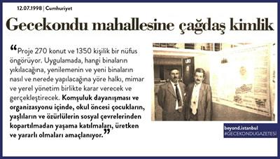 <p><strong>6.</strong> Beyond İstanbul tarafından  derlenen bir gazete kupürü </p>