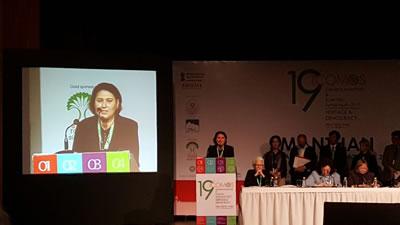 <p><strong>6.</strong> Prof. Dr. Zeynep Gül Ünalın  ICOMOS Uluslararası Yönetim Kurulu seçim konuşması.</p>