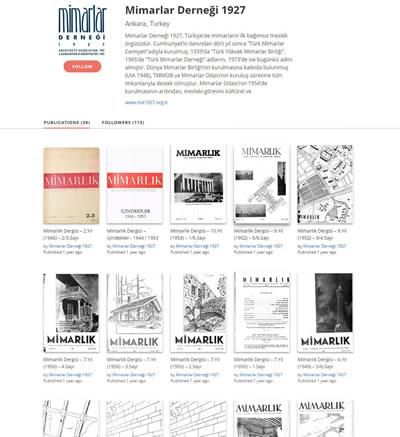 <p><strong>6.</strong> Derginin tüm arşivine ulaşmak için:https://issuu.com/mimarlardernegi1927