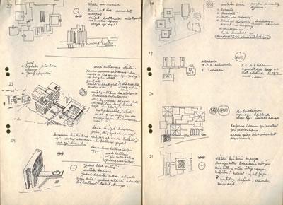 <p><strong>Resim 6.</strong> Cumhurbaşkanlığı  Hizmet Binası Mimari Proje yarışması değerlendirme çizimleri<br />   Kaynak: Maruf Önal Arşivi, Mimarlar  Odası İstanbul Büyükkent Şubesi Şener Özler Arşiv ve Dokümantasyon Merkezi </p>