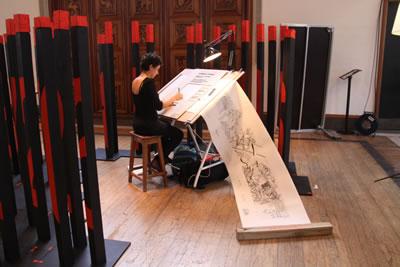 <p><strong>6.</strong> Pavilion of Protest - ZAP Architecture: 2011 yılında RIBA da yer alan işte  Birleşik Krallık ta mimarlık eğitiminin yüksek ücretlerine dikkat çekmek için  öğrencilere eğitimlerinin maliyetini temsil eden bir imaj üretmeleri istenmiş  sergilenmiştir.<br />Kaynak: www.liveprojects.org/wp-content/uploads/2011/11/07_Sigrid.jpg