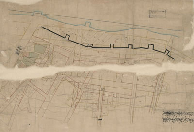<p><strong>Resim  6. </strong>İAK (HRT-006991)  numaralı Demirkapı Sahili düzenleme haritası, 3 Mayıs 1866 (21 Nisan 1282)</p>