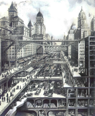"6. ""Geleceğin Şehri"" (La Ville Future), 1910, Harvey Wiley Corbett"