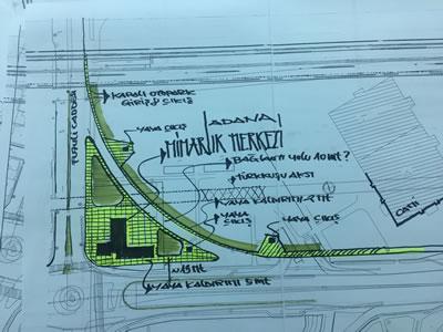 <p><strong>6.</strong> Mimarlar Odası Adana Şubesinin  tescilli müze yapısını tüm kentli ile buluşturabilmek için önerdiği proje:  Adana Mimarlık Merkezi<br /> Kaynak: Mimarlar Odası  Adana Şubesi</p>