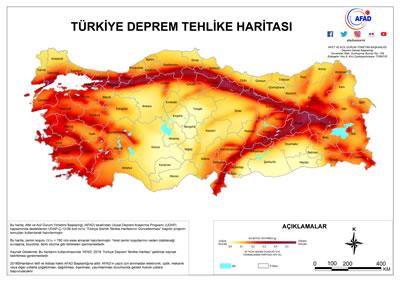 """<p><strong>6. </strong>18 Mart 2018 tarihli Resmî Gazete de yayımlanarak 1 Ocak  2019 tarihinde yürürlüğe giren """"Yeni Deprem Tehlike Haritası"""".<br />   Kaynak:  afad.gov.tr/tr/26539/Yeni-Deprem-Tehlike-Haritasi-Yayimlandi</p>"""