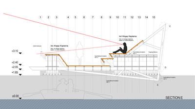 <p><strong>6.</strong> Bostanlı Yaya Köprüsü kesiti<br />   Kaynak:  Stüdyo Evren Başbuğ</p>