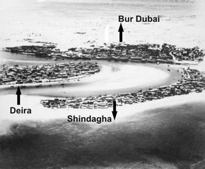 <p><strong>6.</strong>1950 li  yıllarda Dubai Koyunda yerleşim alanları<strong></strong><br />   Kaynak: Ramos, 2010, s.60.</p>