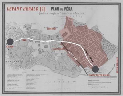 <p><strong>6.</strong> Mandoucun haritası üzerinden <em>Levant Herald</em> gazetesinin yapmış olduğu ikinci öneri</p>