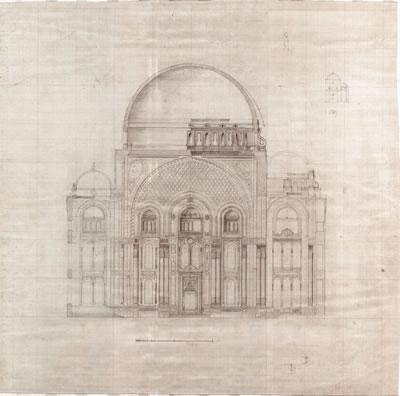 <p><strong>6.</strong> Aziziye Camisi kesit çalışması<br /> Kaynak: <em>Balyanlar: Osmanlı Mimarlığı ve Balyan  Arşivi</em>, s.272.</p>