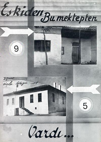 <p><strong>6a. </strong>1930&rsquo;lu yıllarda Manisa&rsquo;da  eski iki mektep ve iki yeni okul.<br />  Kaynak: 1938, <strong>Cumhuriyetin 15. Yılında Manisa</strong>, Kemal  Basımevi, İstanbul.<br />