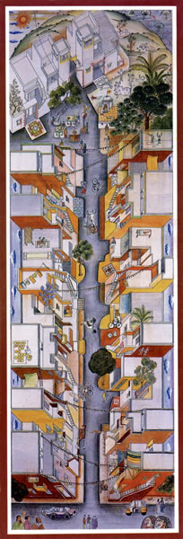 <p><strong>6a.</strong> Aranya Low Cost  Housing, 1989, Indore, Hindistan</p>