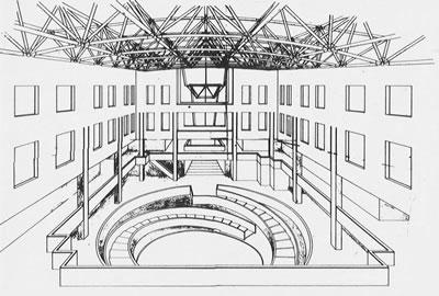<strong>6f.</strong> Samsun Belediyesi Ticaret Merkezi Mimari Proje Yarışması, ödül alan projeler <br />  3. Mansiyon (S. Yıldırım)<br />Kaynak: 1987, <strong>Mimarlık</strong>, sayı:226, ss.68-77</p>
