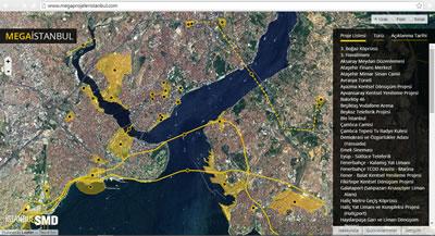 """<p><strong>7.</strong> """"Mega Projeler İstanbul"""" etkileşimli internet  sayfası ara yüzü<br />  Kaynak: URL6</p>"""