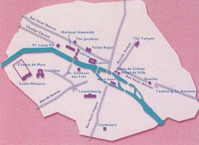 <p><strong>7. </strong>1789 Parisinde  Fransız Devrimi, önemli binalar ve eylemcilerin rotaları<br />(Kaynak: Fransız Milli  Kütüphanesi Arşivi, 2013)</p>