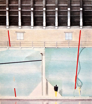 <p><strong>7. </strong>Rem  Koolhaas ve Elia Zenghelis tarafından Strada Novissima için tasarlanan cephe.<br />  Kaynak: 1980, <strong>Venice Architecture Biennale Catalogue</strong>,  s.44.<strong></strong></p>