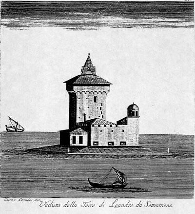 <p><strong>7.</strong> C. C. De Carbognano'nun 1760'larda yaptığı Kız Kulesi  gravürü.</p>
