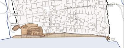 <p><strong>7. </strong>1869 tarihli Selanik  Rıhtım Projesi önerisi. Çizim BOA, I.MMS.37/1554 ve Y.EE.64/4 numaralı  planlardan üretilmiştir.</p>