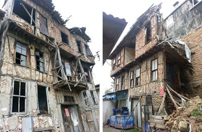 <p><strong>7.</strong>Ereğlide işlevini  yitirmiş ve bakımsızlıktan yıpranmakta / yıkılmakta olan yapılara ilişkin  örnekler <br />  Sol: Kaynak:  Emre Kishalı / KOÜ BAP, 2015 proje arşivi<br />  Sağ: Kaynak:  Nurdan Kuban / KOÜ BAP, 2015 proje arşivi<strong></strong>