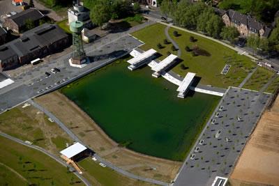 <p><strong>7. </strong>Yeni yaşam alanı için tasarlanan Bergpark ve su kulesi<br />Fotoğraf: A. D. Kaçar</p>