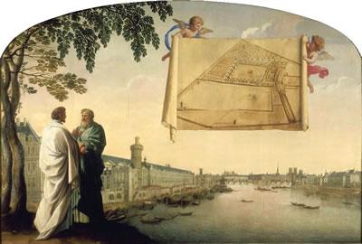 <p><strong>7.</strong> Chartreuse de Parisnin planlarının  melekler tarafından iletilmesi, Eustache le Sueur, 1645</p>
