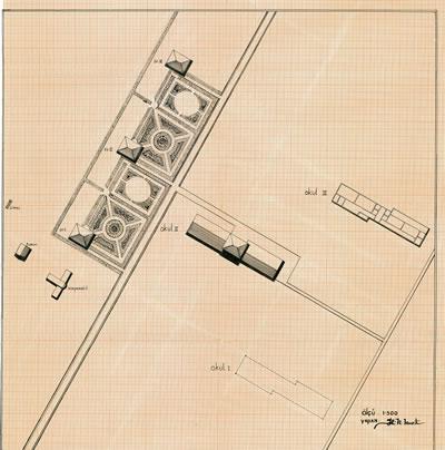 <p><strong>7.</strong> Akçadağ Köy Enstitüsü ilk binaları, 1941.<strong></strong><br />   Kaynak:  Tonguç Vakfı Arşivi<strong></strong></p>