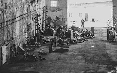 <p><strong>7.</strong> İstanbul Tersanesinden toplanan parçalar<br />   Kaynak: Caner Bilgin,  2016</p>