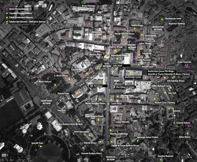 <p><strong>7. </strong>Ulus Meydanı ve yakın çevresinde  yer alan, farklı dönemleri temsil eden yapı, heykel ve açık alanlar<br /> <strong>Kaynak: </strong>Çalışma Grubu Öneri Dosyası,  2020, s.11.</p>