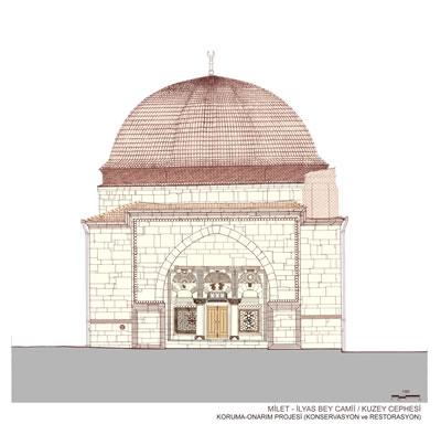 7. Caminin kuzey cephesi, restorasyon önerisi