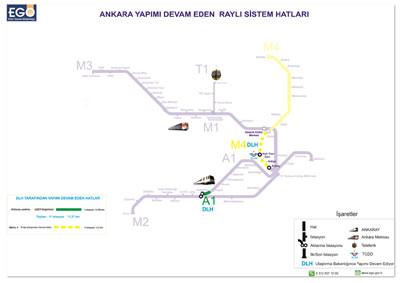 <p>7. Ankara yapımı devam eden raylı sistem haritası<br /> Kaynak: URL7</p>