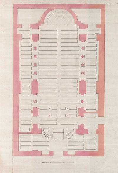 <p><strong>7.</strong> Silah teşhirine yönelik  düzenlenen Aya İrini Planı<br /> Kaynak: <em>Balyanlar: Osmanlı Mimarlığı ve Balyan  Arşivi</em>, s.297.</p>
