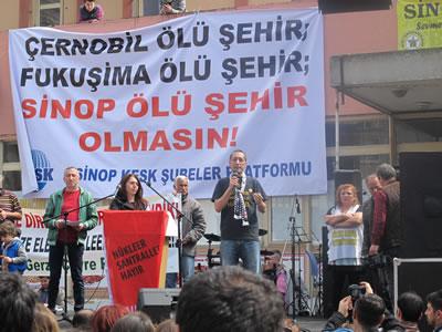 <p><strong>Resim 7a.</strong> Sinop Nükleer Karşıtı Platformun düzenlediği  eylemlerden</p>