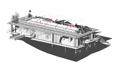 <p><strong>7a.</strong> 3D model, plan  ve kesitler<br />   Kaynak: Erginoğlu & Çalışlar Mimarlık</p>