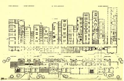 <p><strong>Resim 7c.</strong> Erzurum Atatürk  Üniversitesi Mühendislik Mimarlık Yüksekokulu Yarışması, Önalın  1. Ödül alan projeyi değerlendirme krokisi, projenin maket fotoğrafı ve kat planı<br />  Kaynak: <strong>Mimarlık</strong>, 1972, sayı: 102, s.43.</p>