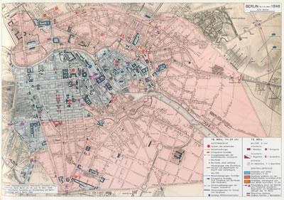 <p><strong>8. </strong>1848 Berlin İsyanı  Vaziyet Planı<br />(Kaynak: Heinrich, 2007)</p>