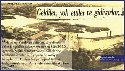 <p><strong>8. </strong>Haliç Temizleniyor…<br />  Kaynak:  Beyond İstanbul</p>