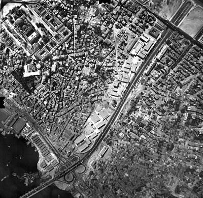 <p><strong>8. </strong>Hava Fotoğrafı, İMÇ  ve yakın çevresi, 1966<br />  Kaynak: ibb.gov.tr</p>