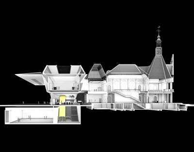 <p><strong>8.</strong> Yeni-eski ilişkisi<br />   Çizim: Benthem Crouwel  Architects </p>