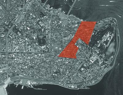 <p><strong>Resim  8. </strong>Hocapaşa yangın  yerinin Sirkeciden Divanyoluna kadar gerçekleştirilen düzenleme sınırı<strong></strong><br />   Kaynak: Yandex Haritalar</p>