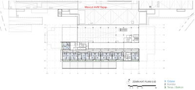 <p><strong>8.</strong> Otel kat planı<br />   Kaynak: CM Mimarlık </p>