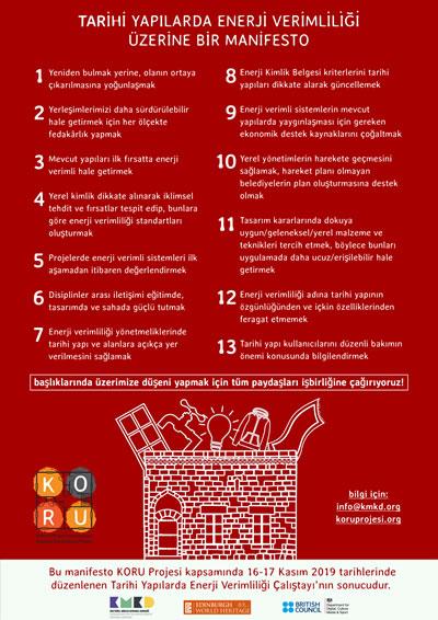 <p><strong>8.</strong> Tarihî Yapılarda Enerji Verimliliği Manifestosu</p>