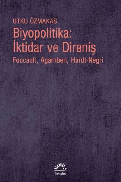 <p><strong>8.</strong> <em>Biyopolitika:  İktidar ve Direniş: Foucault, Agamben, Hardt-Negri</em> kapak görseli<br /> Kaynak:  Özmakas, Utku, 2021, <strong>Biyopolitika:  İktidar ve Direniş: Foucault, Agamben, Hardt-Negri</strong>, İletişim Yayınları,  İstanbul. </p>