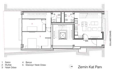 <p>< <strong>8a.</strong> Zemin Kat ve 2. Kat  Planları<br />  Kaynak:  CM Mimarlık</p>