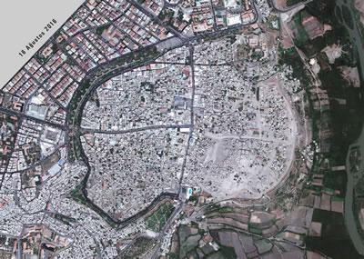 <p><strong>8a.</strong> 16  Ağustos 2016 tarihli uydu görüntüsü ve analizi</p>