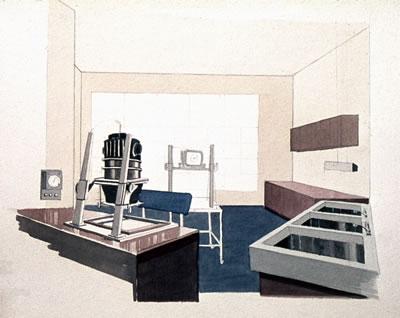 <p><strong>8b.</strong> Önder Küçükermanın Fotoğraf Stüdyosu  projesine ait perspektif çizimleri <br />Kaynak: Önder Küçükerman  arşivi</p>