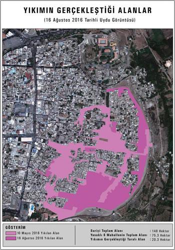 <p><strong>8b.</strong> 16  Ağustos 2016 tarihli uydu görüntüsü ve analizi</p>